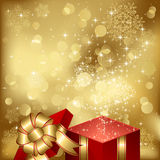 Magic Christmas gift box Royalty Free Stock Images
