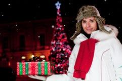 Magic Christmas night Stock Photo