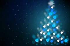Magic Christmas night background Royalty Free Stock Images