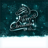 Magic Christmas night typography card Stock Image