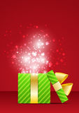 Magic Christmas on red Royalty Free Stock Photography