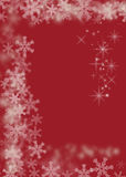 Magic christmas red background Royalty Free Stock Photo
