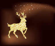 Magic christmas reindeer Royalty Free Stock Photos