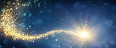 Free Magic Christmas Star In Shiny Night Royalty Free Stock Image - 161946656