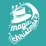 Magic christmas text.isolated on background.Great design element. For congratulation cards Stock Photos