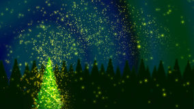 Magic christmas tree. With magic dust Royalty Free Stock Photos