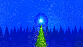 Magic christmas tree. With magic stars Stock Images