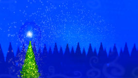 Magic christmas tree. With magic dust Royalty Free Stock Images