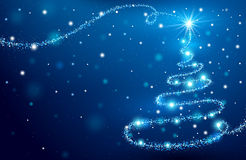 The Magic Christmas Tree Stock Photography