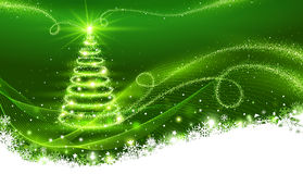 Magic Christmas tree. Christmas background Royalty Free Stock Photography