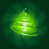 Magic christmas tree. Illustation of an abstract glittering christmas tree Royalty Free Stock Photography