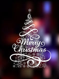 Magic Christmas Tree on abstract colorful Royalty Free Stock Images