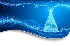 Magic Christmas Tree. Christmas background Royalty Free Stock Image