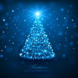 Magic Christmas Tree Stock Photo