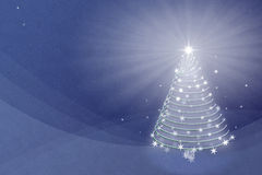 Magic Christmas tree background illustration Royalty Free Stock Images