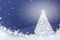 Magic Christmas tree background illustration Royalty Free Stock Photo