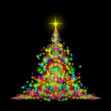 Magic christmas tree Stock Image