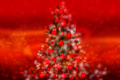 Magic Christmas tree Stock Photo