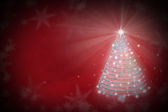 Magic Chritmas tree background illustration Royalty Free Stock Photography