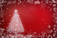 Magic Chritmas tree background illustration Royalty Free Stock Photo