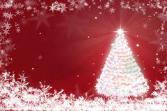 Magic Chritmas tree background illustration Royalty Free Stock Images