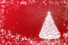 Magic Chritmas tree background illustration Stock Photos