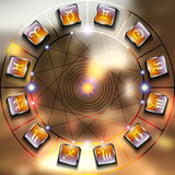 Magic circle Stock Photos