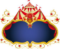 Magic circus placard royalty free stock image