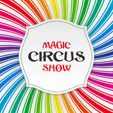 Magic circus show poster, background Royalty Free Stock Images