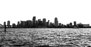 Magic City. Another day on the water in south florida.  Skyline shot of Miami, Fl Royalty Free Stock Photography