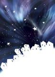 Magic city at night vector illustration