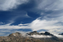 Magic clouds. In the mountains Royalty Free Stock Image