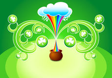Magic clover tree pot Stock Image