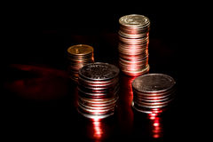 Magic coins Stock Images