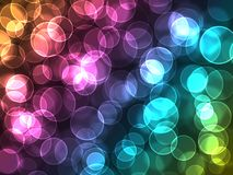 Magic color bokeh Royalty Free Stock Images