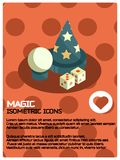 Magic color isometric poster Stock Photo
