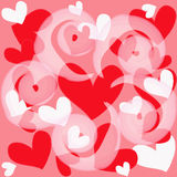 Magic colorful heart on a pink background Royalty Free Stock Photography