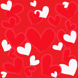 Magic colorful heart on a red background Stock Images