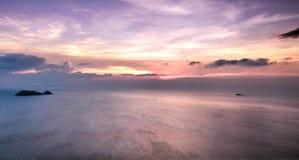 Magic sunset. Magic colorful sunset. Koh Phangan, Thailand. January 2018 royalty free stock photography