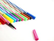 Magic colors for painting picture. Stationery, back to school stock photos