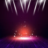 Magic on Concert Stage. Magic concert background with multicolor lights on the stage royalty free stock images