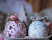 Magic couple prince   easteregg dream fairytale Royalty Free Stock Photo