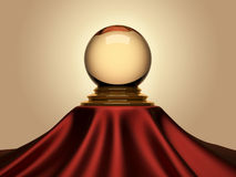 Magic crystal ball Stock Photo