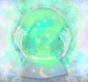 Magic crystal ball stock illustration