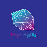 Magic crystals of pyramidal shape. Royalty Free Stock Images