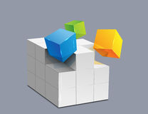 Magic cube. Illustration of magic cube design Stock Photography