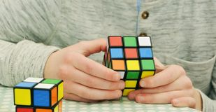 Magic Cube, Patience, Tricky, Hobby Royalty Free Stock Images