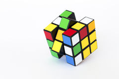Magic cube. A magic cube set against a white background Royalty Free Stock Images