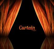 Magic curtain Royalty Free Stock Photo