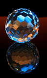 Magic cut crystal sphere Royalty Free Stock Image